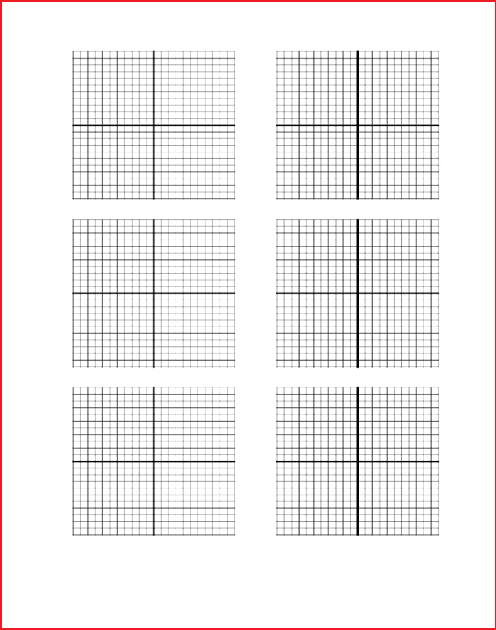 Blank Graph Paper with Numbers
