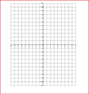 Cartesian Graph Paper with Numbers
