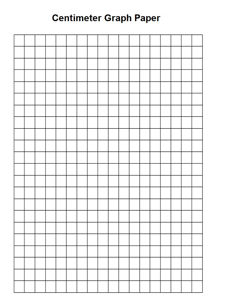 Centimeter Graph Paper