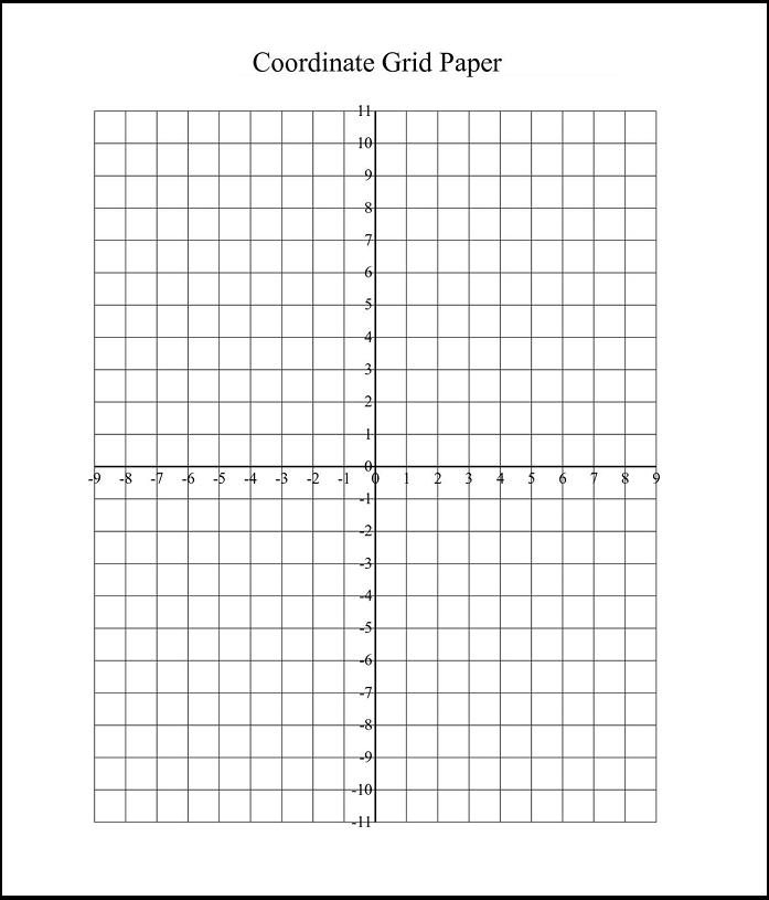 Coordinate Grid Paper Printable