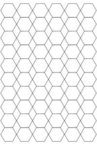 Free Hexagon Graph Paper