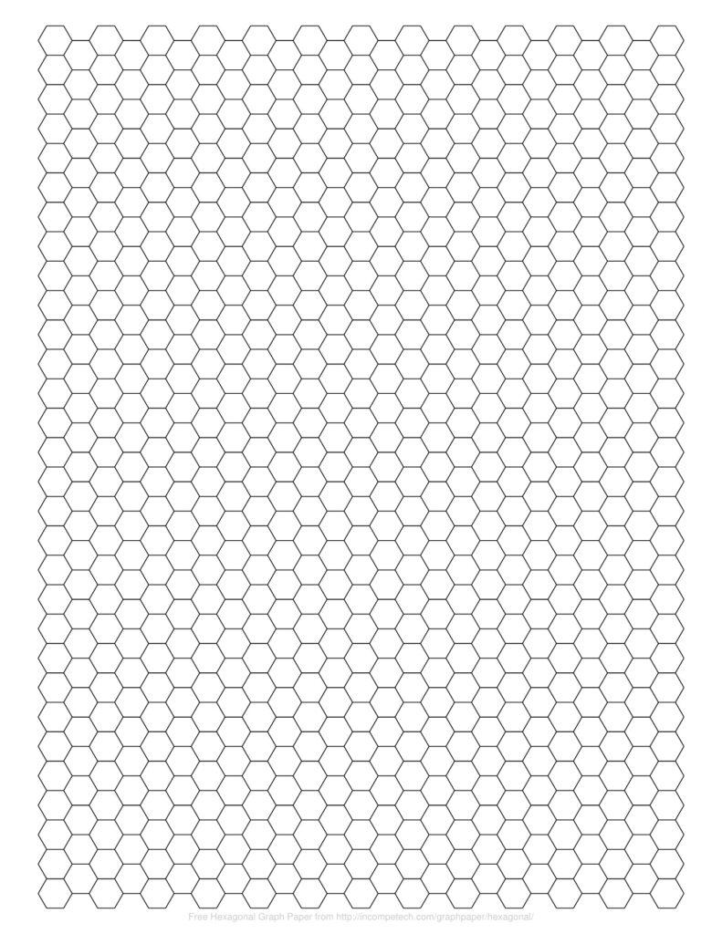 Hexagon Graph Paper PDF