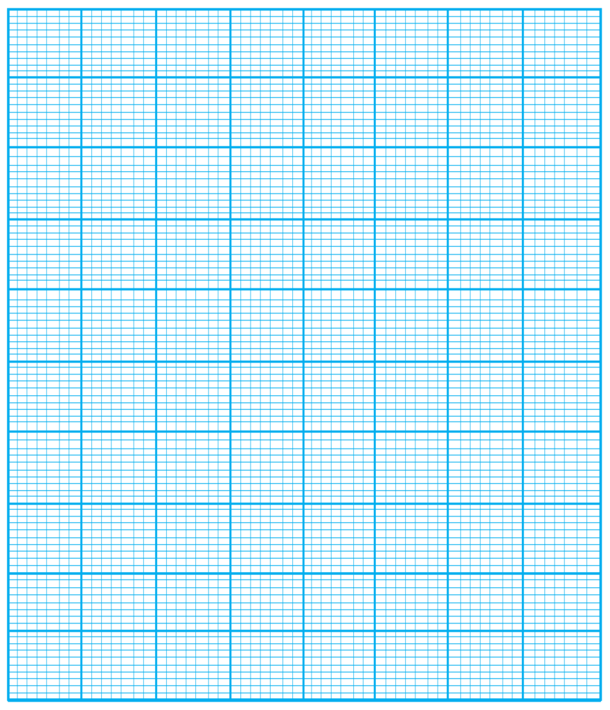 Numbered Graph Paper First Quadrant