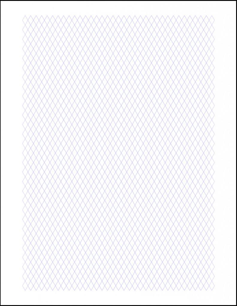 Diamond Graph Paper Printable