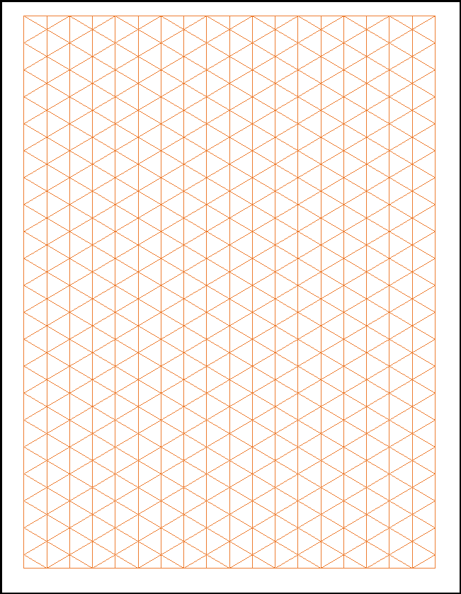Diamond Grid Paper Template
