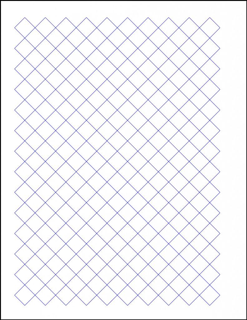 PrintableDiamond Graph Paper